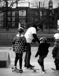 skateboard lesson in Charlton Park