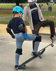 Progressing skateboard lesson London