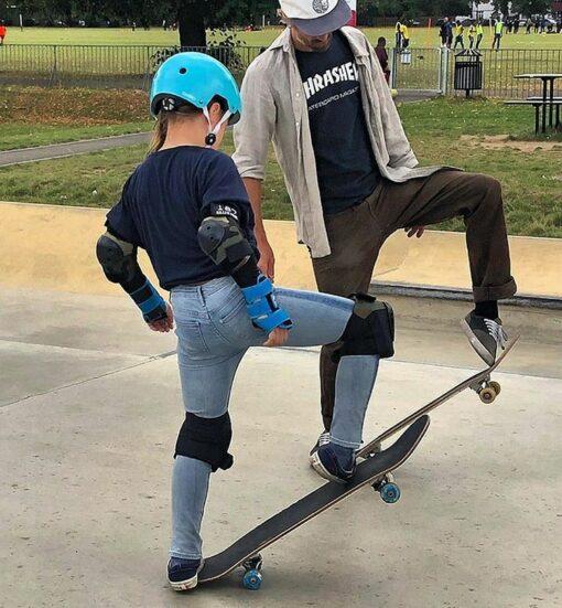 Progressing skateboard lesson London