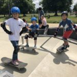 Skateboard lesson Birthday party