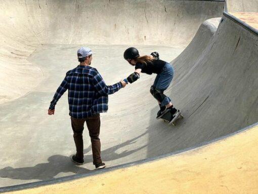 pro skateboard lesson