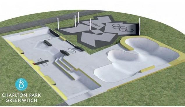 Charlton Park Skatepark overview